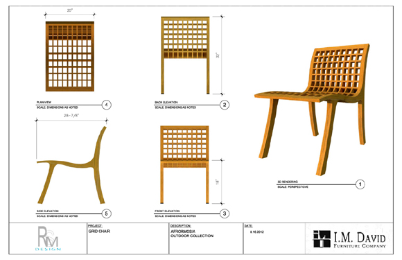Randy macbeth design outdoor furniture for Chair design drawing